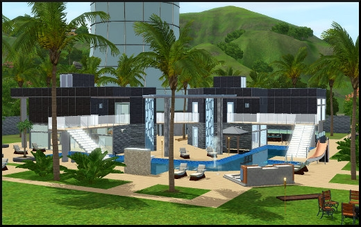 Stunning Maison Moderne De Luxe Sims 3 Photos Awesome Interior Home Satellite
