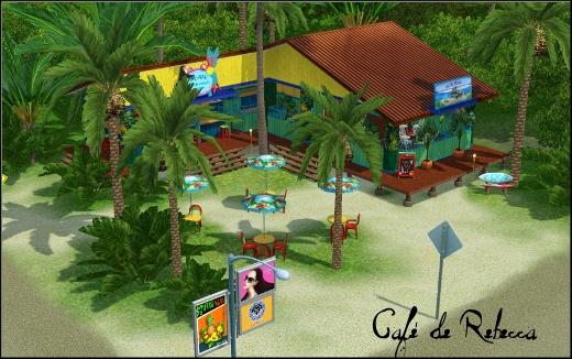 sims 3 ile de reve isla paradiso cafe rebecca