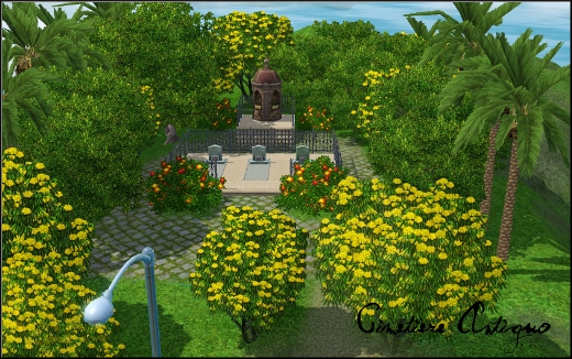 sims 3 ile de reve isla paradiso cimetiere cementerio antiguo