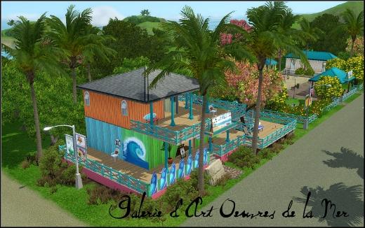 sims 3 ile de reve isla paradiso galerie oeuvres d art de la mer