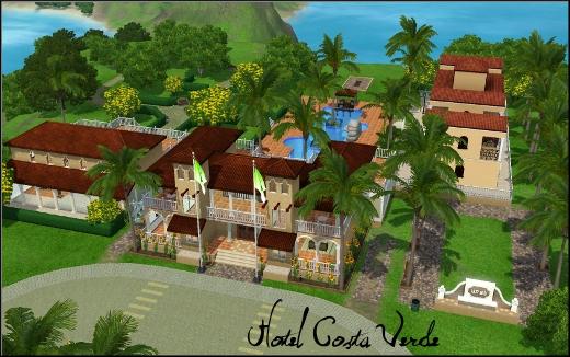 sims 3 ile de reve isla paradiso hotel costa verde