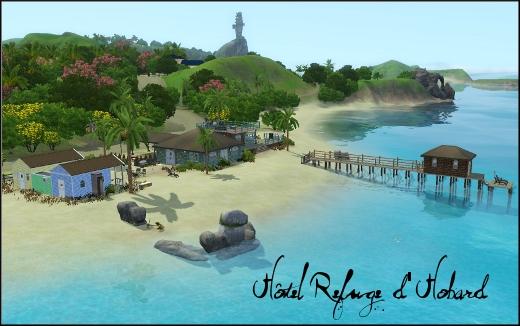 sims 3 ile de reve isla paradiso hotel refuge hobard