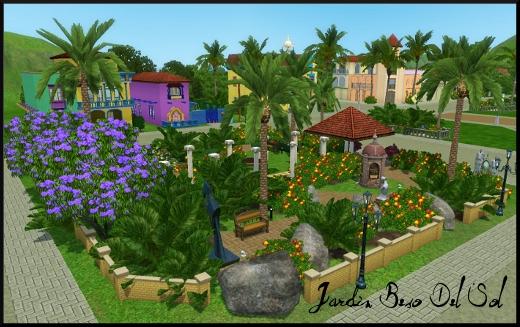 sims 3 ile de reve isla paradiso jardin beso del sol