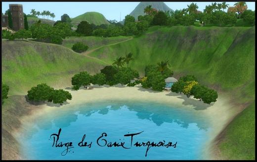 sims 3 ile de reve isla paradiso plage des eaux turquoises