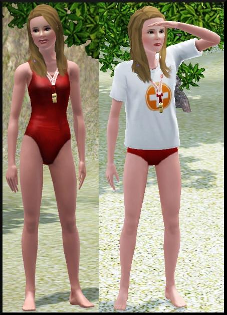 sims 3 ile de reve maitre nageur profession