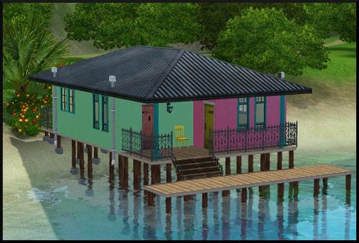Sims 3 ile de reve nouveautes add on maison pilotis