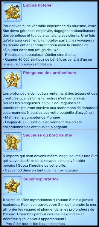 Sims 3 ile de reve nouveautes add on souhait a long terme