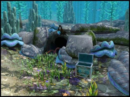 coffre bleu grotte des sirènes