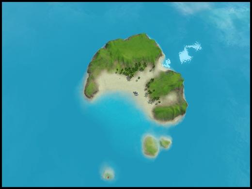 île cachée repaire du plongeur