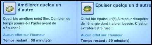 Sims 3 Saisons Extra-terrestres améliorer épuiser quelqu'un d'autre