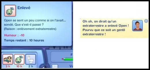 Sims 3 Saisons Extra-terrestres enlevé