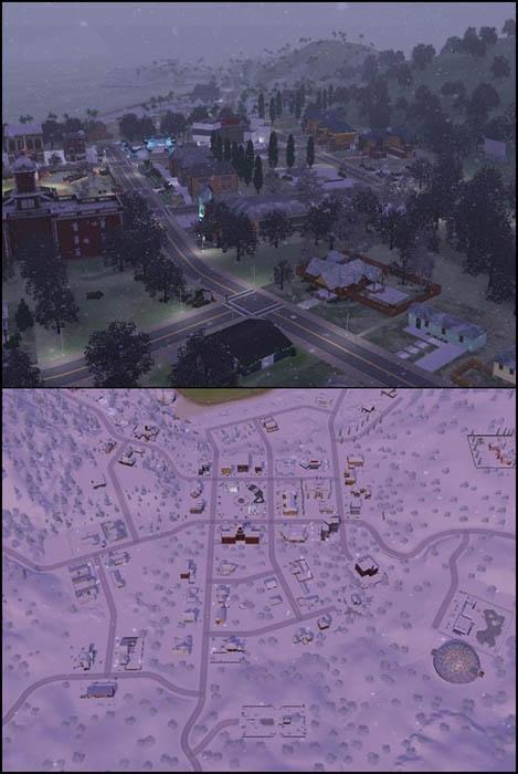 Sims 3 Saisons Hiver quartier neige