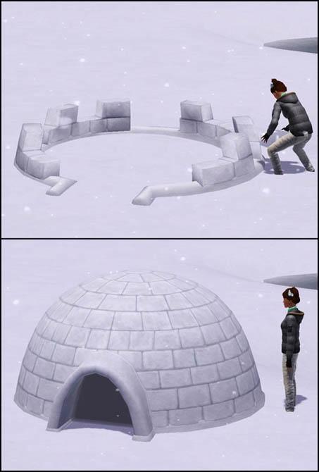 Sims 3 Saisons Hiver igloo