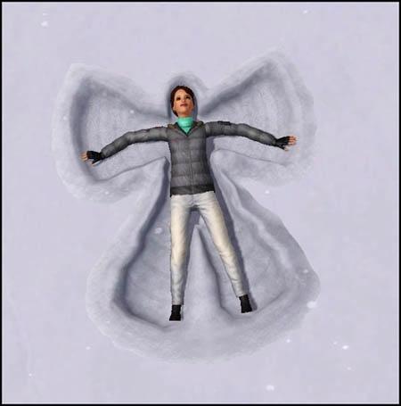Sims 3 Saisons Hiver ange des neiges
