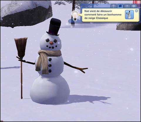 Sims 3 Saisons Hiver bonhomme de neige