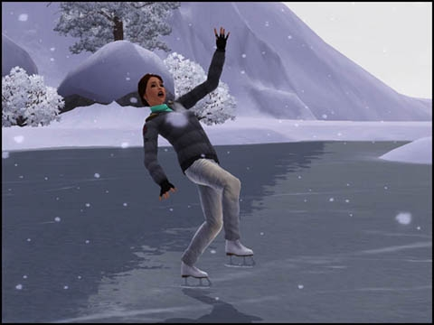 Sims 3 Saisons Hiver patinage