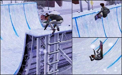 Sims 3 Saisons Hiver snowboard