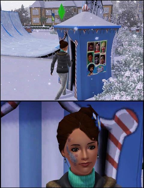 Sims 3 Saisons Hiver stand de maquillage