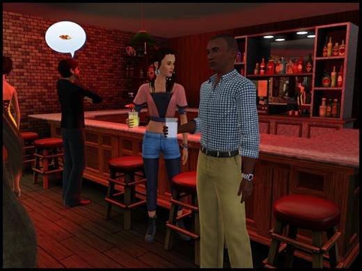 fête dans un bar