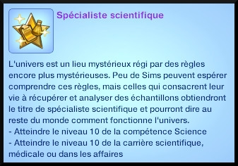 2 sims 3 universite competence science souhait long terme specialiste scientifique