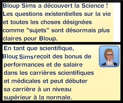 5 sims 3 universite competence science niveau 1 message