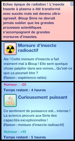 21 sims 3 universite competence science station recherche scientifique experience irradier insecte mord