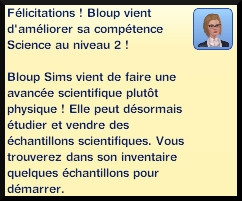 27 sims 3 universite competence science niveau 2 message