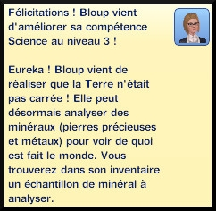 32 sims 3 universite competence science message niveau 3