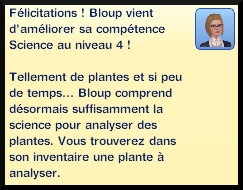 35 sims 3 universite competence science message niveau 5