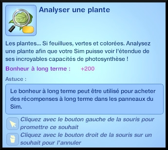 36 sims 3 universite competence science souhait analyser plante