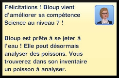 45 sims 3 universite competence science message niveau 7
