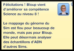 47 sims 3 universite competence science message niveau 8