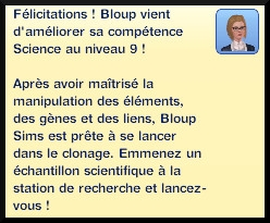 53 sims 3 universite competence science message niveau 9