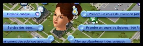 Sims 3 Université Végésims expérience