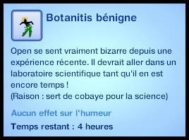 Sims 3 Université Végésims botanitis bénigne