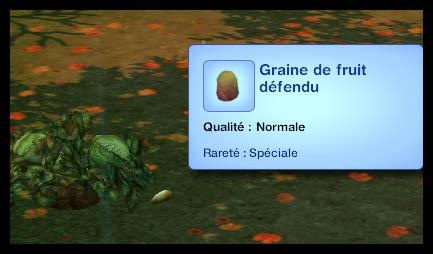 Sims 3 Université Végésims graine de fruit défendu