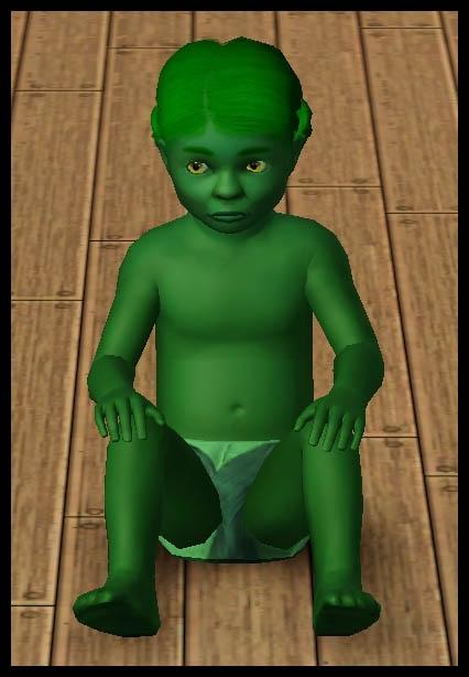 Sims 3 Université Végésims bambin couche