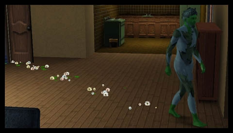 Sims 3 Université Végésims fleurs quand il marche