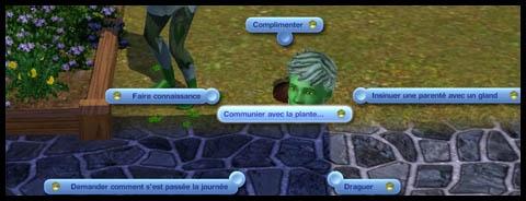 Sims 3 Université Végésims communiquer avec les plantes