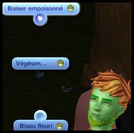 Sims 3 Université Végésims baiser empoisonné bisou fleuro