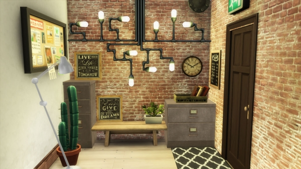 Sims 4 deco entree for Entree style industriel