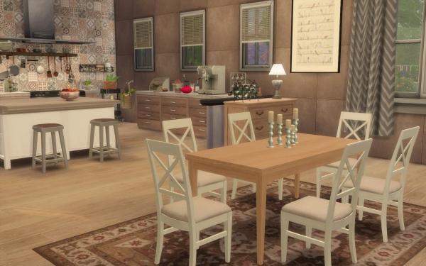 Sims 4 deco rustique cuisine kitchen chic moderne for Deco cuisine rustique et moderne