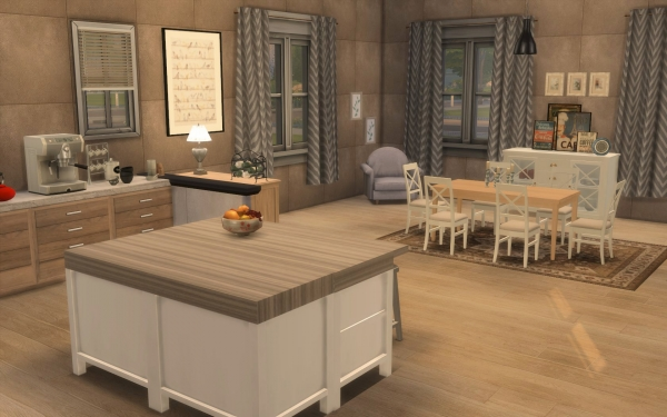 sims 4 deco rustique cuisine kitchen chic moderne. Black Bedroom Furniture Sets. Home Design Ideas