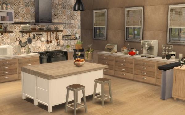 Carrelage de cuisine carreau de platre pour cuisine carrelage de cuisines - Cuisine rustique chic ...