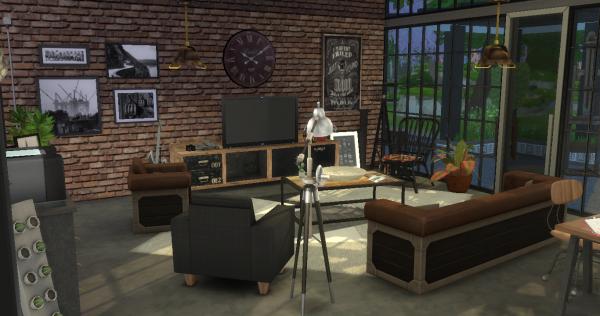 industriel style d coration s jour. Black Bedroom Furniture Sets. Home Design Ideas