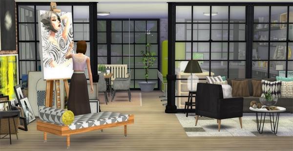 d co loft moderne industriel artiste. Black Bedroom Furniture Sets. Home Design Ideas