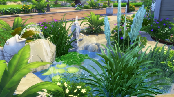Sims 4 deco am nagement ext rieur outdoor - Idee deco bassin exterieur ...