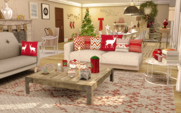 Sims 4 deco cc noel christmas for Decoration noel interieur