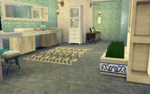 sims 4 deco carnet decoration marocaine salle de bain bathroom morocco. Black Bedroom Furniture Sets. Home Design Ideas
