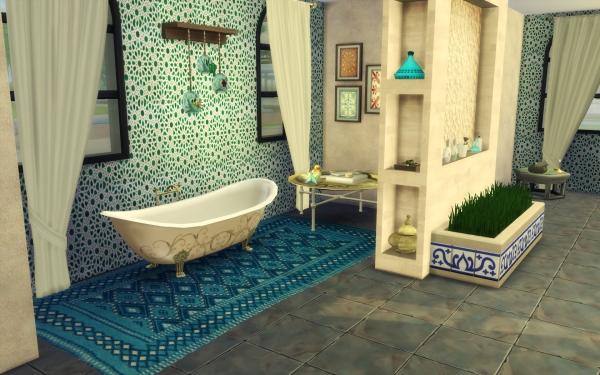 Sims 4 deco carnet decoration marocaine salle de bain bathroom morocco - Inspiration salle de bain ...